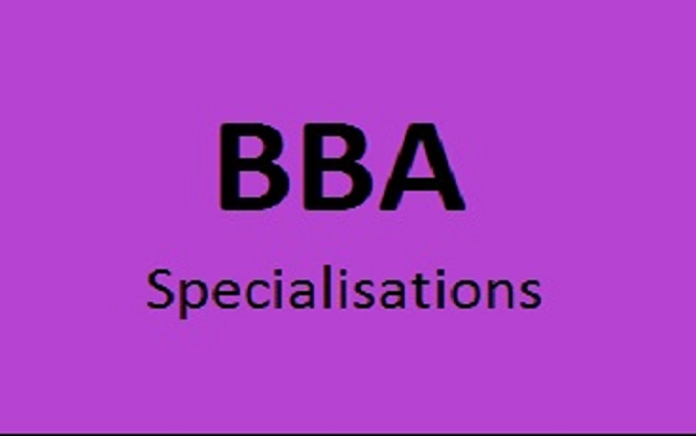 Top specialisations in BBA