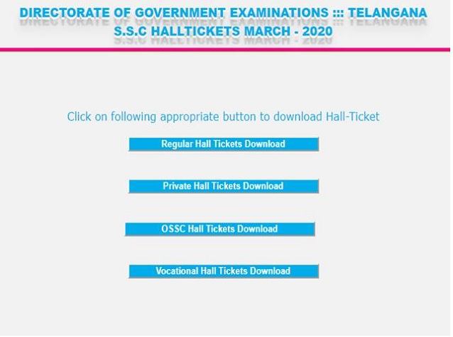 Ts Ssc Hall Ticket 2020 Released Check Details Here