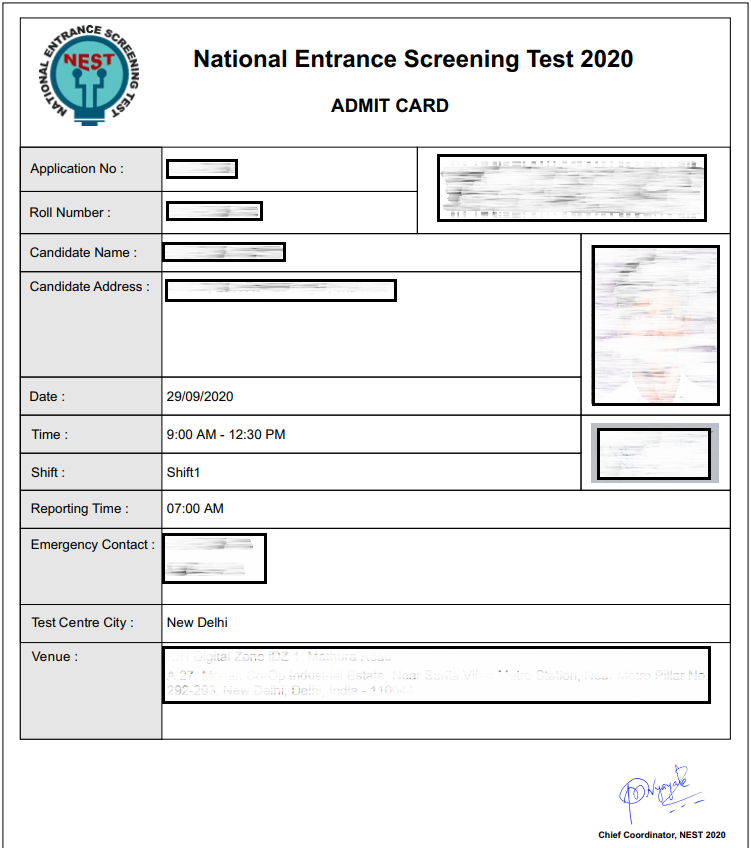 Nest Admit Card 2021 Delayed Check Hall Ticket Date Steps To Download